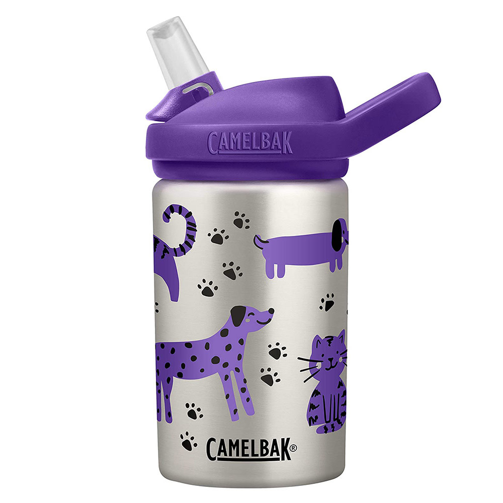 CamelBak Eddy Kids Single Wall Stainless .4L - Cats & Dogs