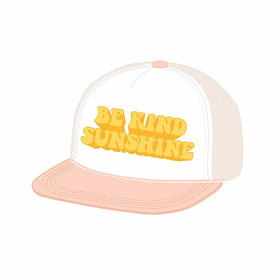 Tiny Whales Tiny Whales Be Kind Trucker Hat - Pink