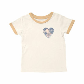 Tiny Whales Tiny Whales Love Your Mother Ringer Tee - Natural