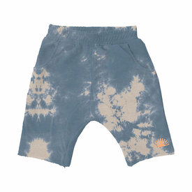 Tiny Whales Tiny Whales Mojave Cozy Time Shorts - Tie Dye Blue