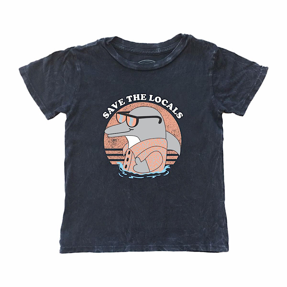 Tiny Whales Tiny Whales Save The Locals Tee - Vintage Black