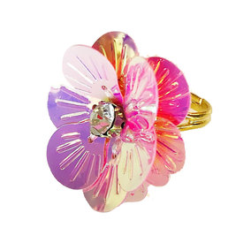 Gunner & Lux Gunner & Lux Adjustable Ring - Flower Power Pink Diamond