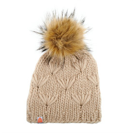 Sh*t That I Knit Sh*t That I Knit - Motley Beanie - Camel - Faux Fur Pom