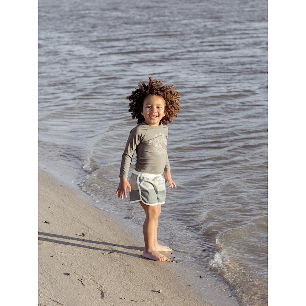 Rylee + Cru Swim Trunk - Sage Fern