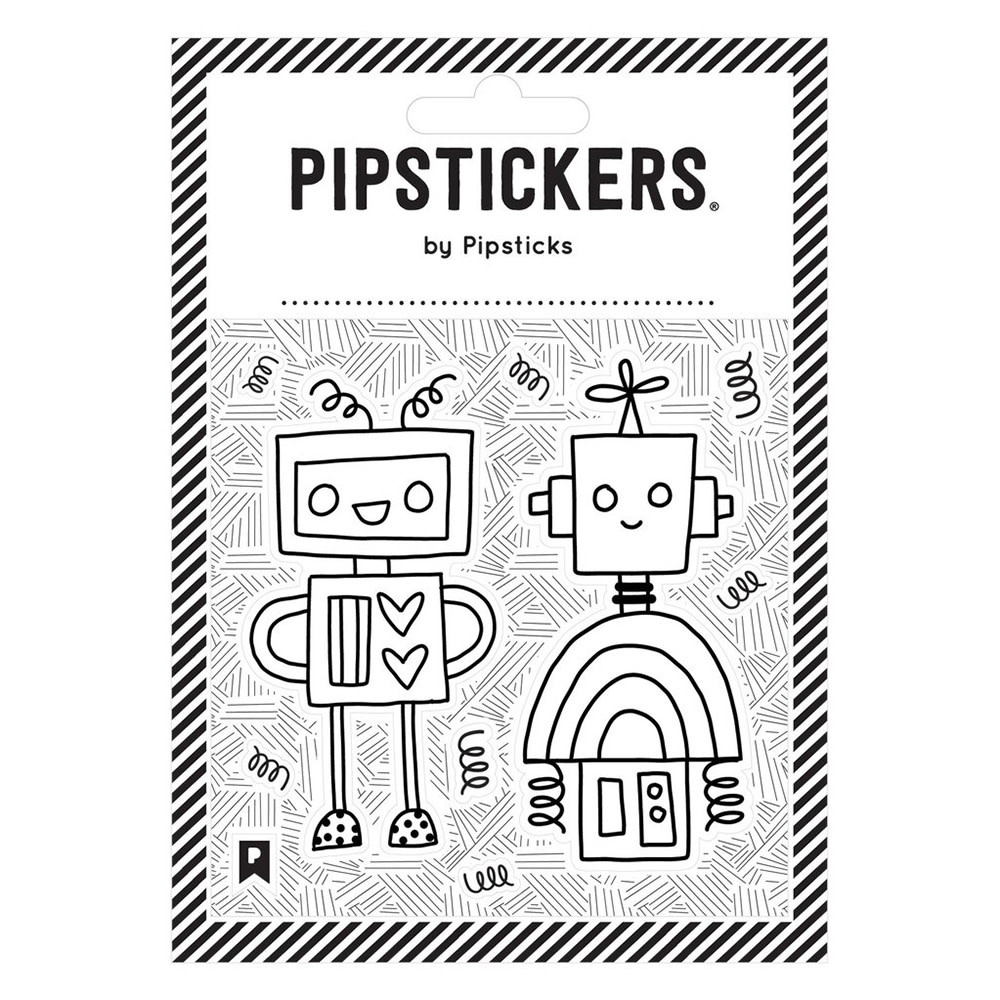 Color-in Robots Stickers