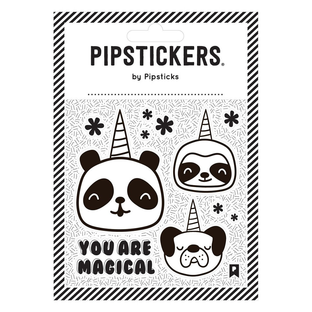 Pipsticks Color-in Pandacorn Stickers