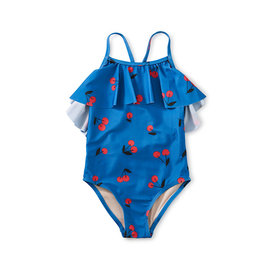 Tea Collection Tea Collection - Flutter One-Piece Swimsuit - Ginja Cherry in Blue