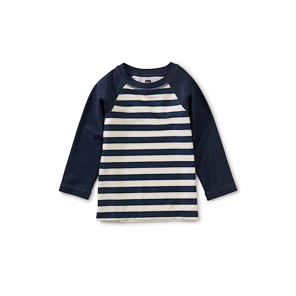 Tea Collection - Long Sleeve Baby Rash - Swim Stripe