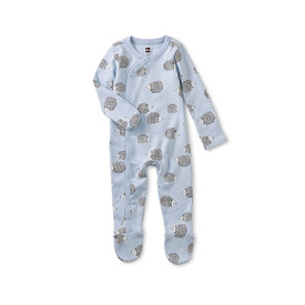 Tea Collection Tea Collection - Footed Baby Romper - Hedgehog