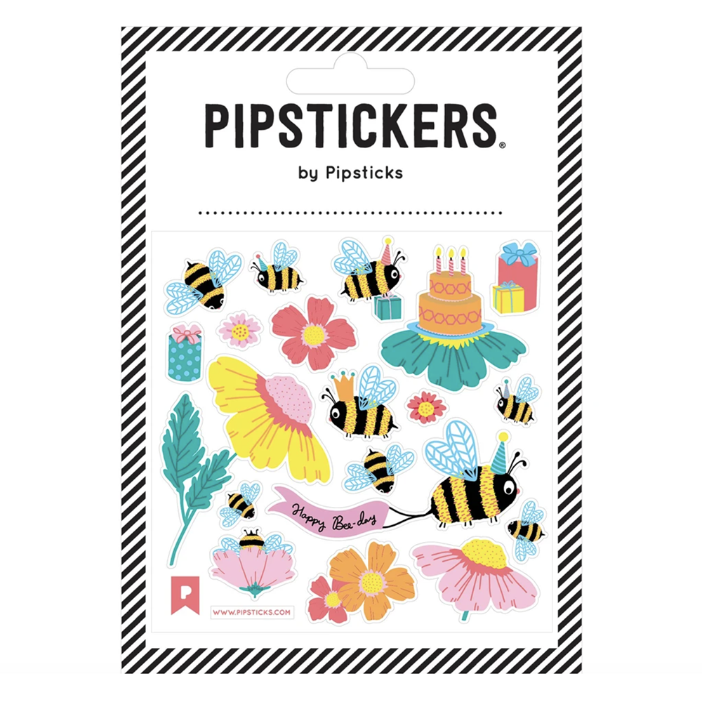 Happy Bee-Day Stickers