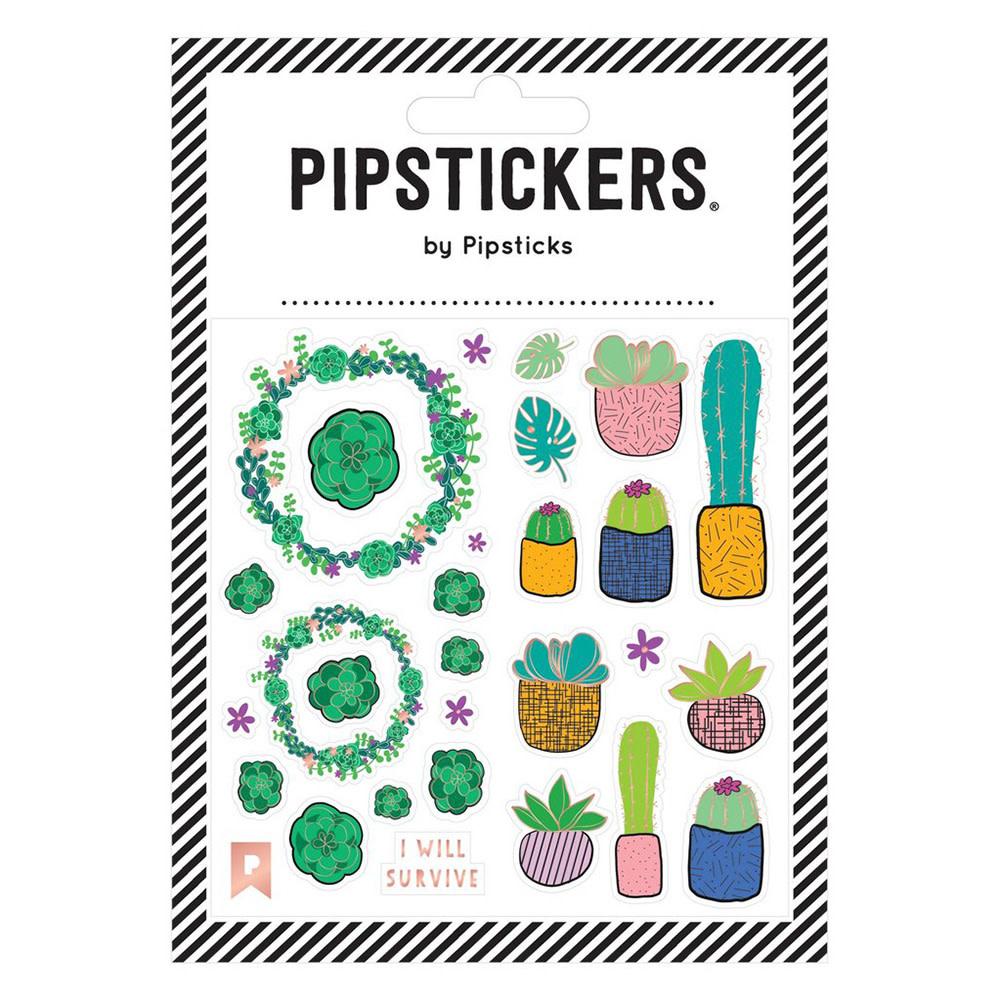 Pipsticks Succulent Garden Stickers