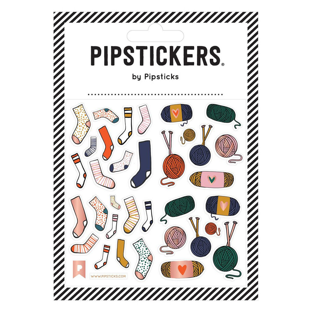 Pipsticks Knit Your Socks Off Stickers