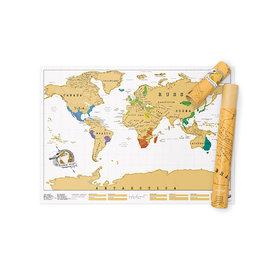 Luckies Scratch Map - World Map