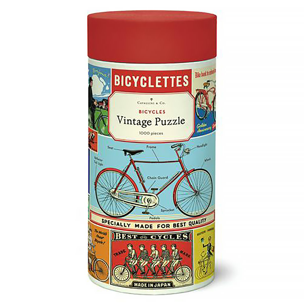 Cavallini Papers & Co., Inc. Cavallini Jigsaw Puzzle - Bicycles - 1000 Pieces