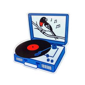 Quiet Tide Goods Quiet Tide Goods Vinyl Sticker - Songbird Record Player