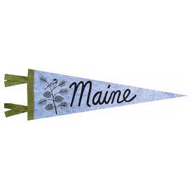 Quiet Tide Goods Quiet Tide Goods Pennant - Maine Pinecone - Grey Wool