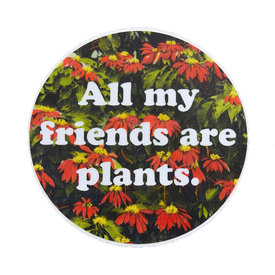 Quiet Tide Goods Quiet Tide Goods Vinyl Sticker - All My Friends are Plants - Red