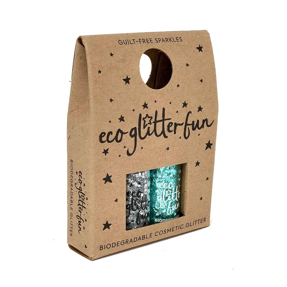 Eco Glitter Eco Glitter 2 pack - Silver & Aqua