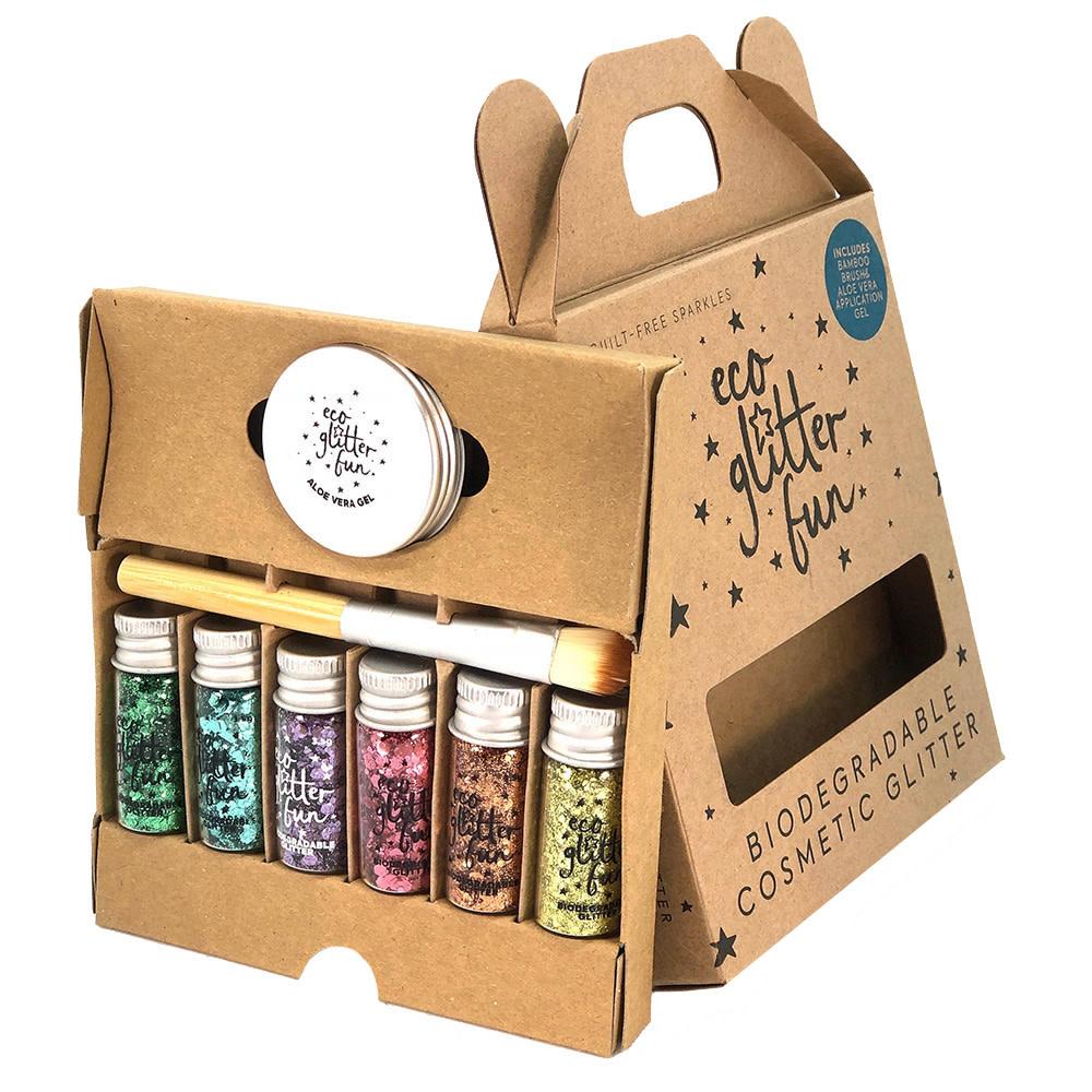 Eco Glitter 6 pack - Rainbow