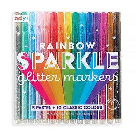 Ooly Rainbow Sparkle Glitter Markers Set