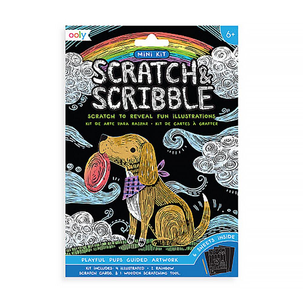Mini Scratch & Scribble - Playful Pups