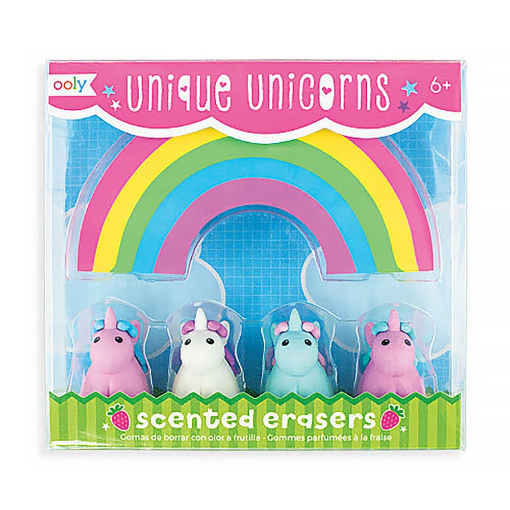 Unique Unicorns Scented Erasers Set