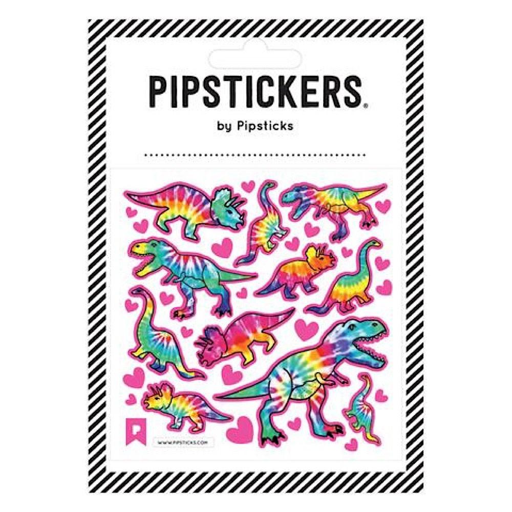 Pipsticks Tie Dye T-Rex Stickers