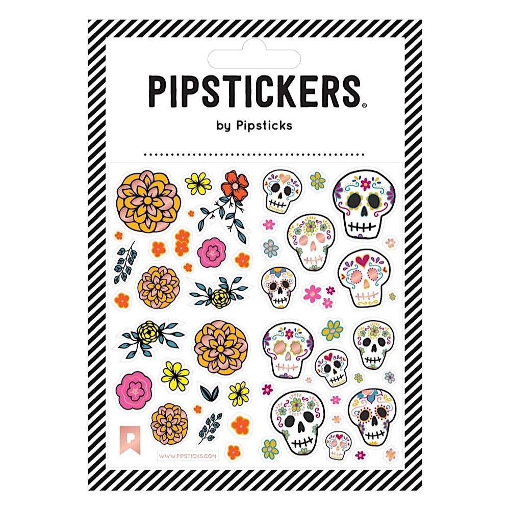 Pipsticks Floral Calaveras Stickers