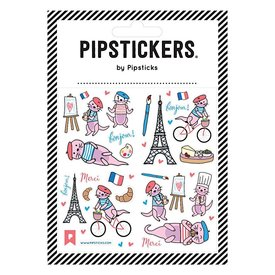 Pipsticks Just an Otter Day in Paris Stickers