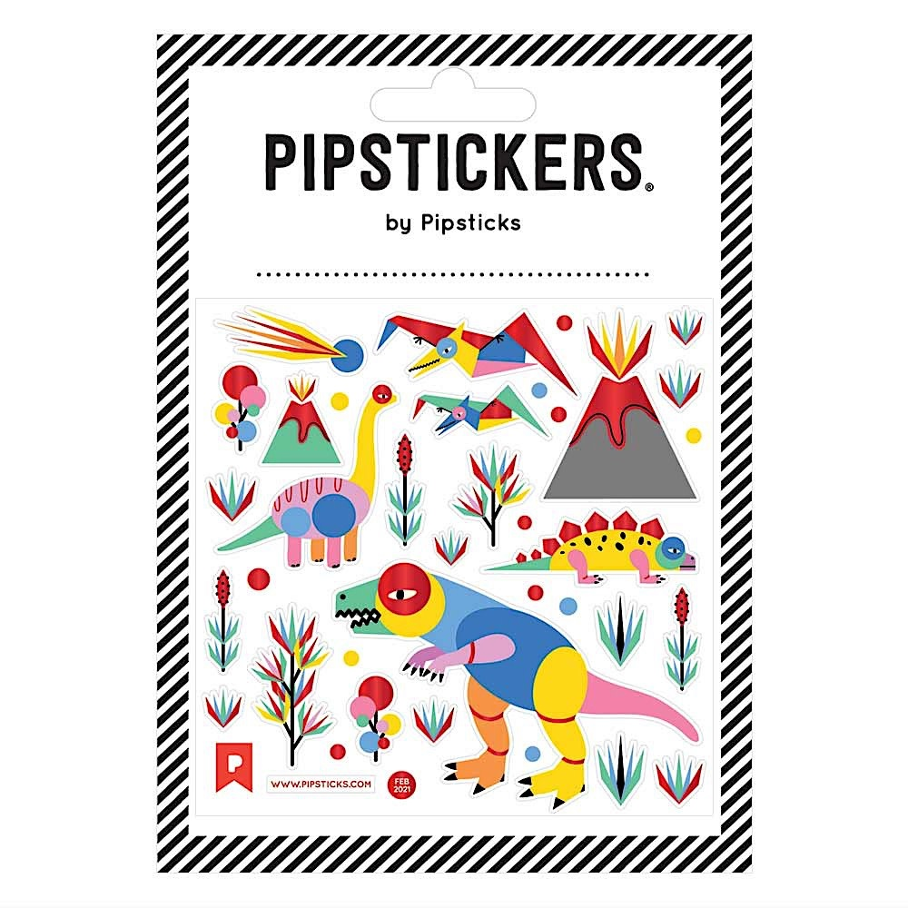 Pipsticks Prehistoric Playground Stickers