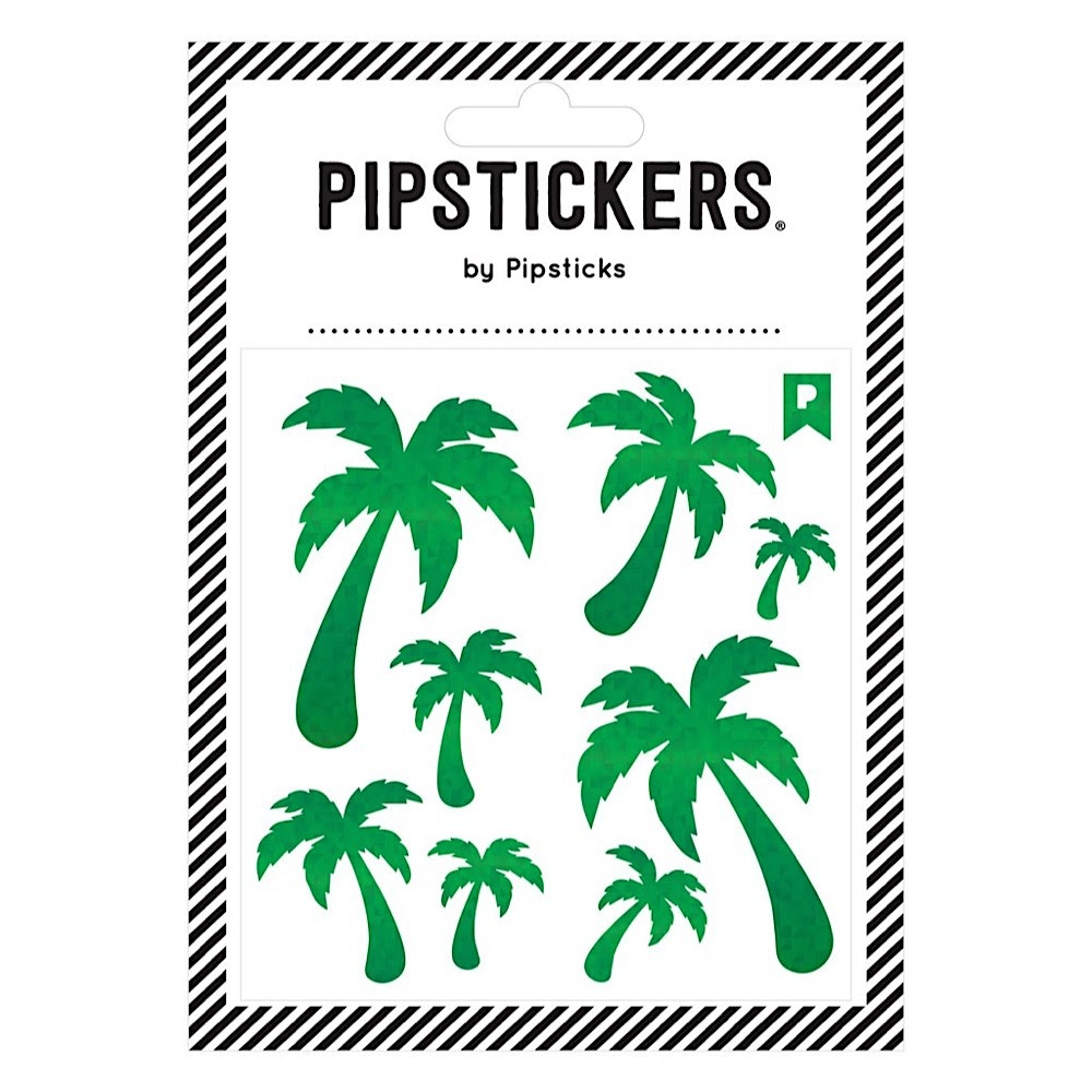 Pipsticks Green Holographic Palm Trees Stickers