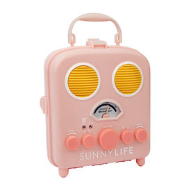 Sunnylife Sunnylife Beach Sounds Portable Speaker and Radio - Pink