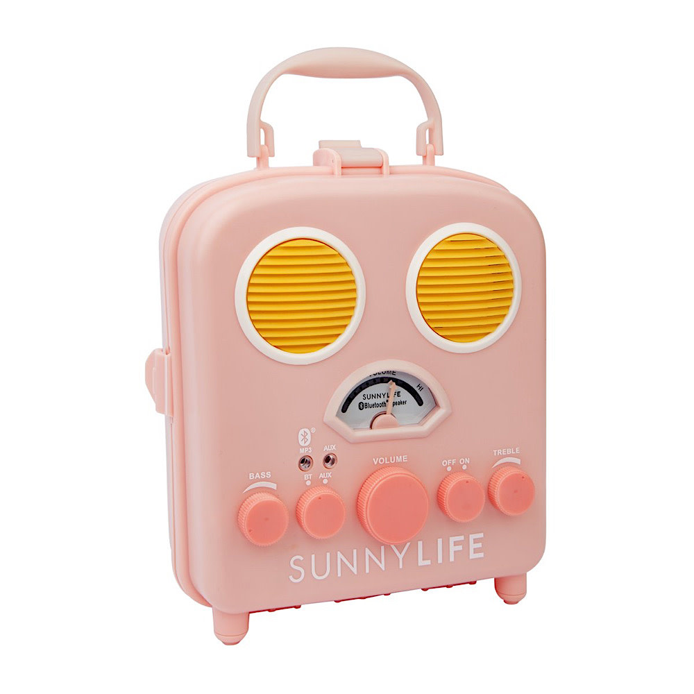 Sunnylife Beach Sounds Portable Speaker and Radio - Pink