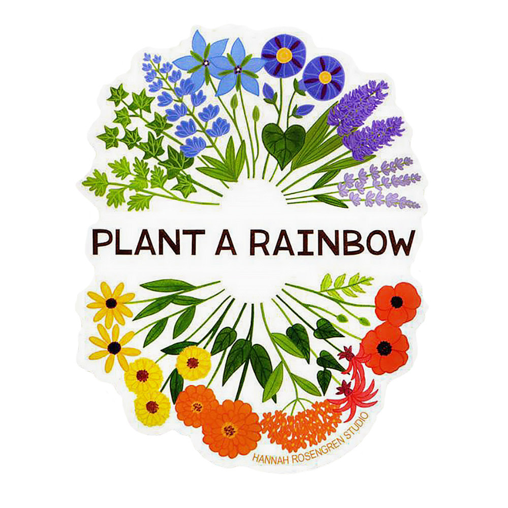 Hannah Rosengren Sticker - Plant A Rainbow