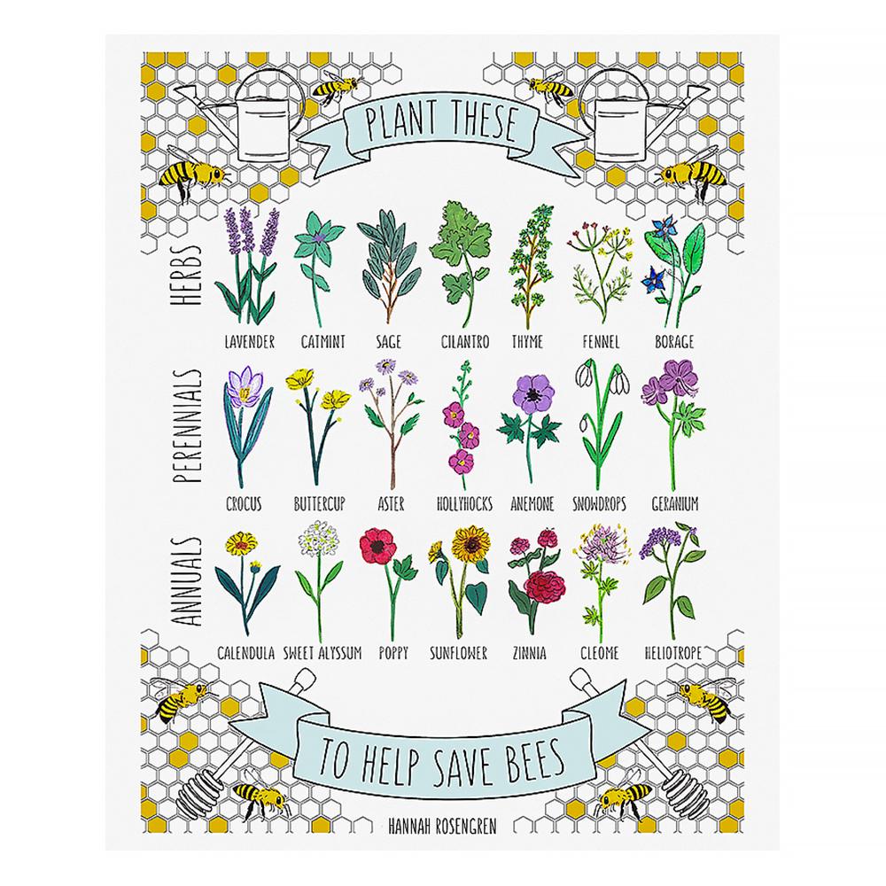Hannah Rosengren Print - Save The Bees - 11x14