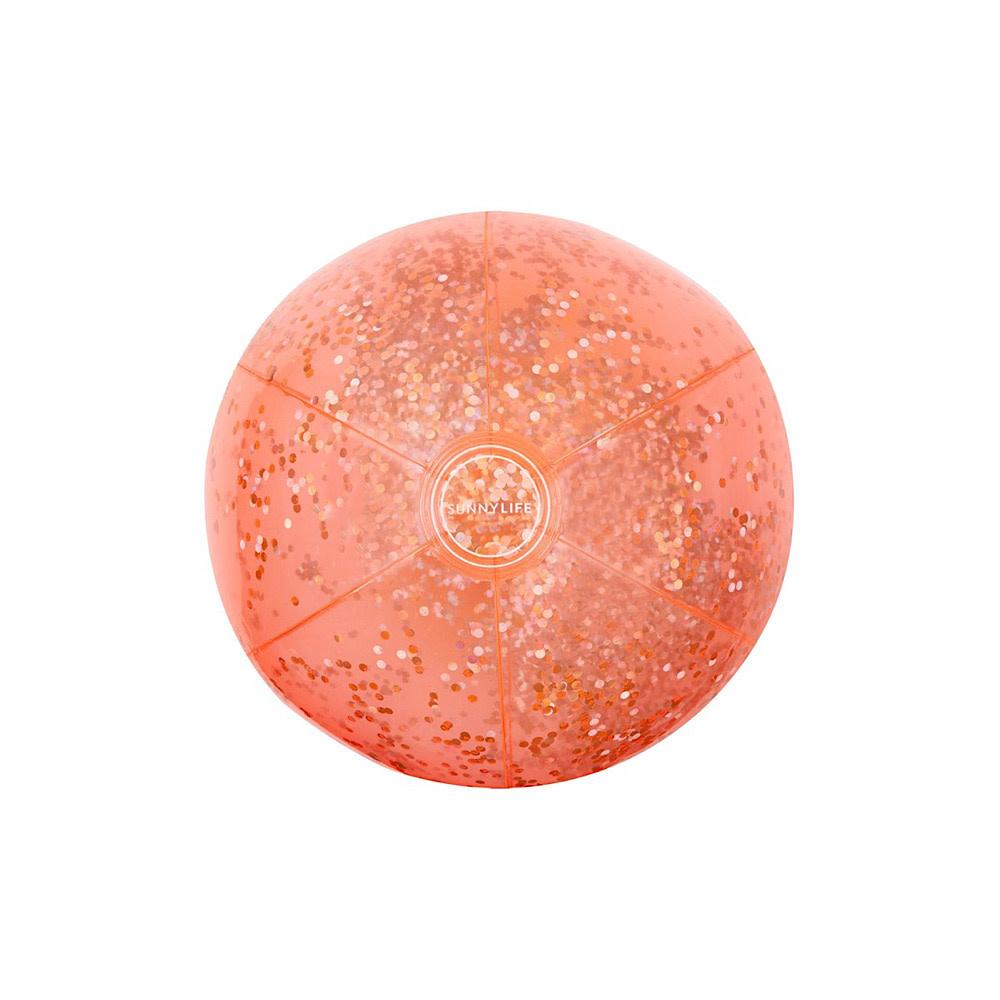Sunnylife Inflatable Beach Ball - Glitter Coral