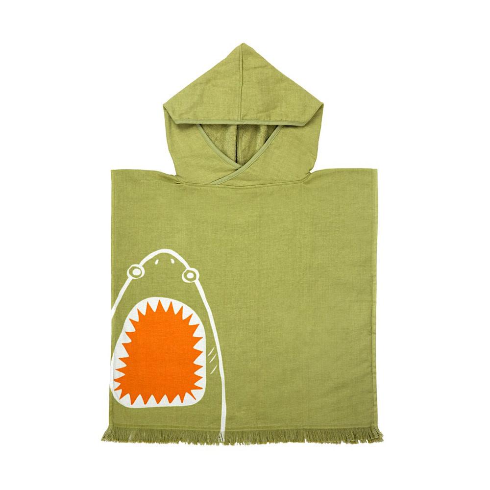 Sunnylife Sunnylife Beach Poncho Shark Attack - Olive
