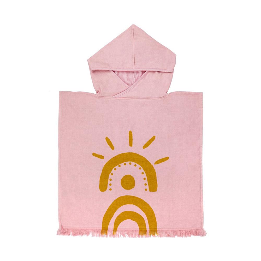 Sunnylife Sunnylife Beach Poncho Desert Palms - Powder Pink