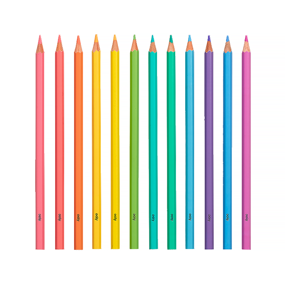 Pastel Hues Colored Pencils Set