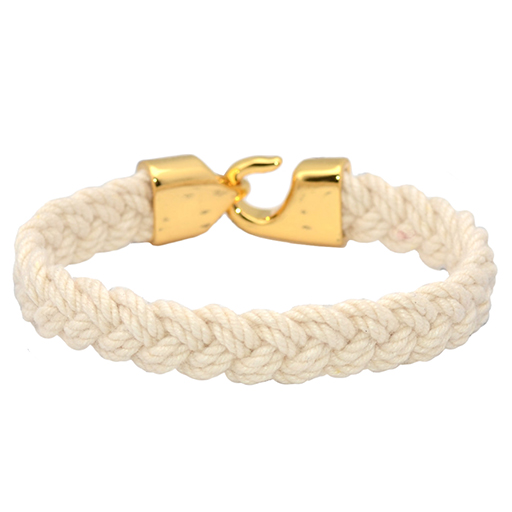 Lemon & Line Turk's Head Bracelet - Natural/Gold Clasp