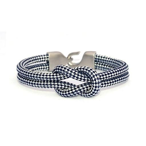 Lemon & Line Nantucket Bracelet - Navy/Silver Clasp