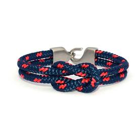 Lemon & Line Lemon & Line Newport Bracelet Navy/Red Fleck