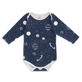 Winter Water Factory Winter Water Factory Long-Sleeve Snapsuit - Planets Night Sky