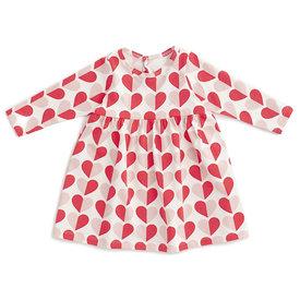Winter Water Factory Winter Water Factory Geneva Baby Dress - Hearts Red & Pink