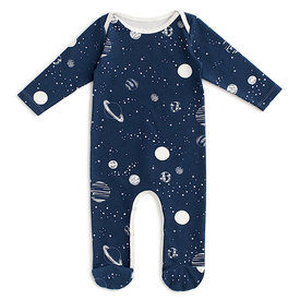 Winter Water Factory Winter Water Factory Long Sleeve Footed Romper - Planet Night Sky