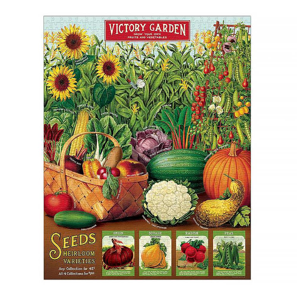 Cavallini Jigsaw Puzzle - Victory Garden - 1000 Pieces