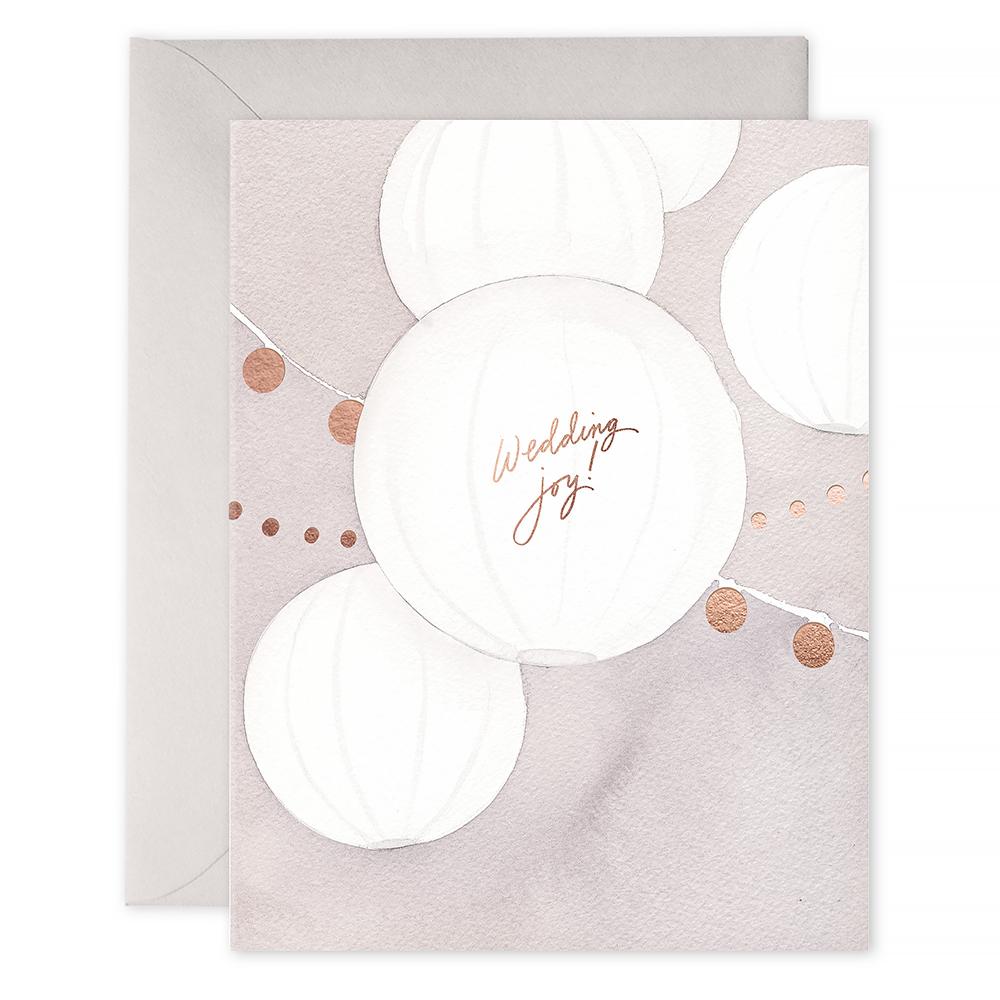E Frances Wedding Lanterns Card