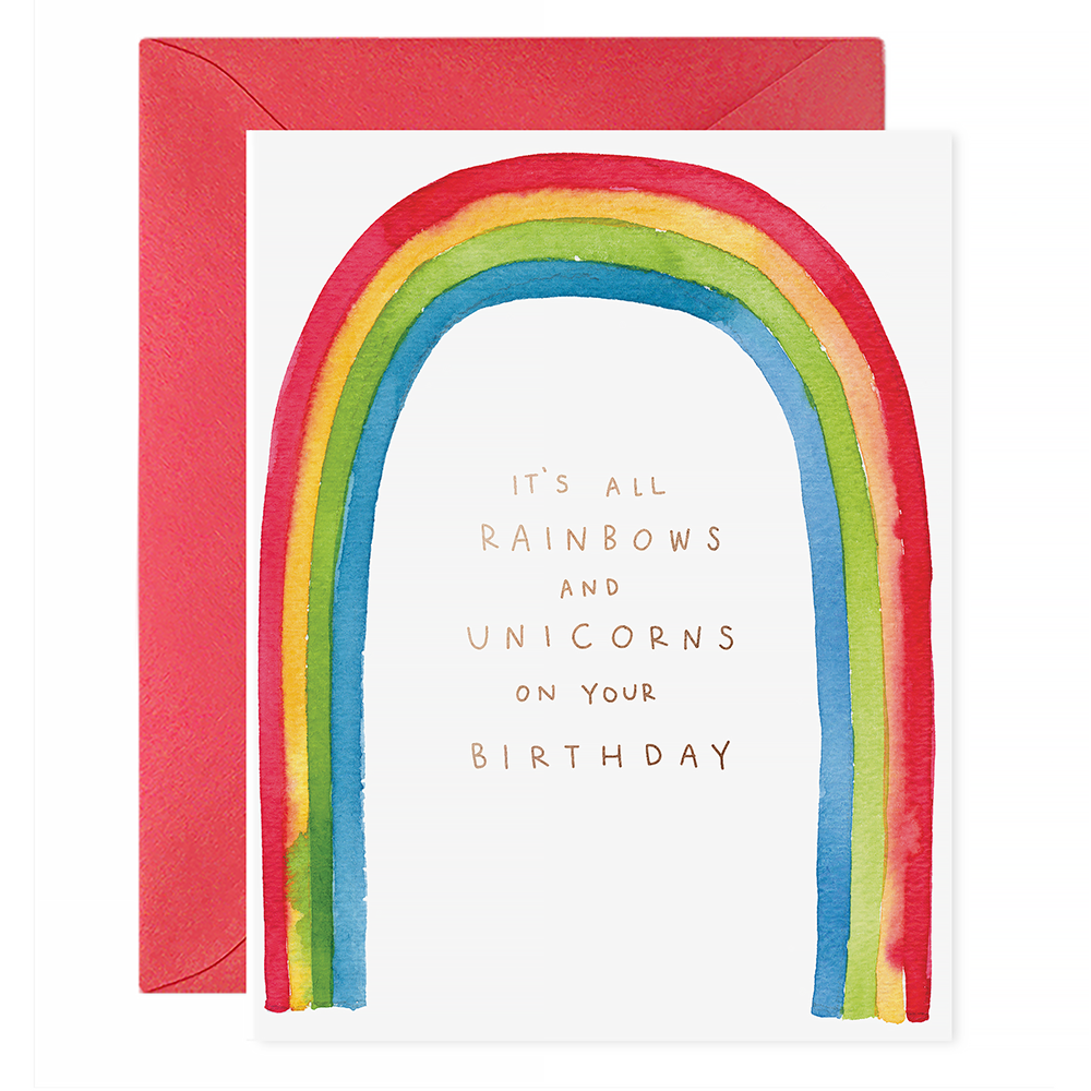 E Frances Rainbows & Unicorns Card