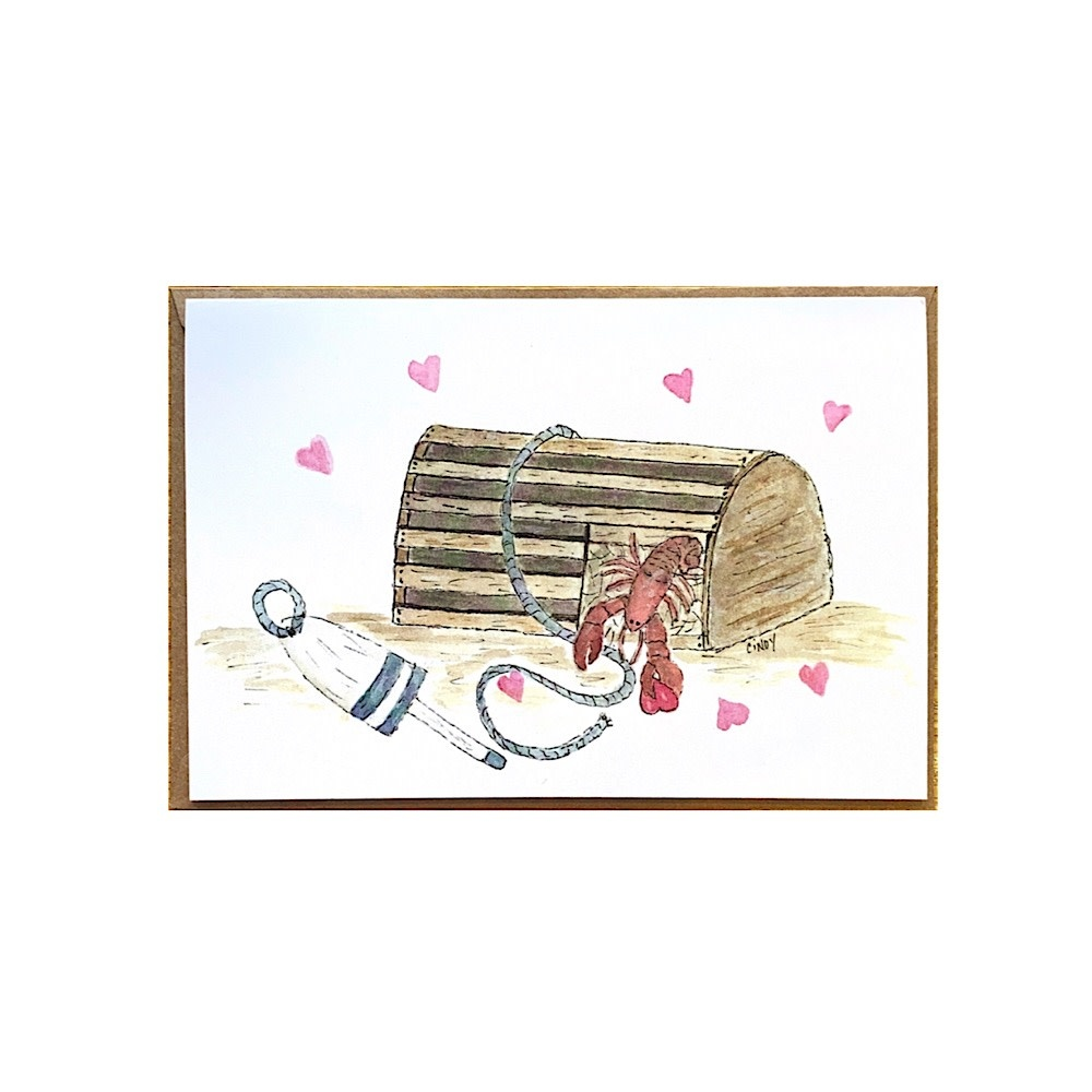 Cindy Shaughnessy Greeting Card - Lobster Trap Love