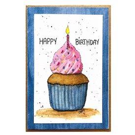Cindy Shaughnessy Cindy Shaughnessy Greeting Card - Happy Birthday Cupcake